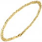 Preview: Armband 585 Gold Gelbgold teil matt 21 cm Goldarmband