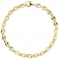 Preview: Armband Kaffeebohne 585 Gold Gelbgold 21 cm Goldarmband Kaffeebohnen-Armband