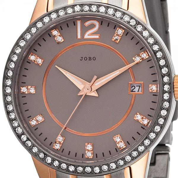 Damen Armbanduhr Quarz Analog Titan bicolor Mit SWAROVSKI® ELEMENTS Datum