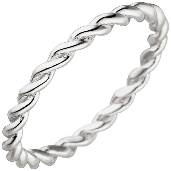 Damen Ring geflochten 925 Sterling Silber Silberring