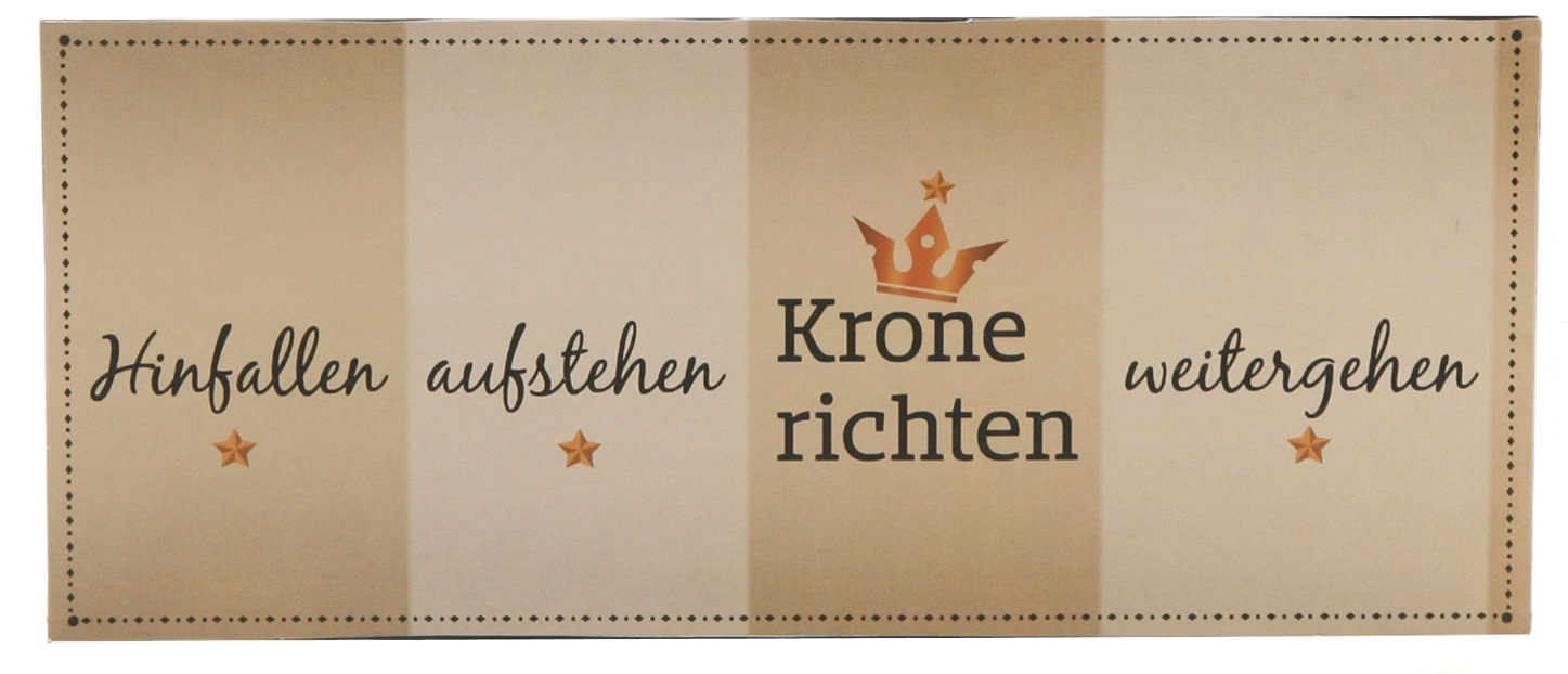 metallschild schild krone richten blechschild 30 5x13 cm lim. Black Bedroom Furniture Sets. Home Design Ideas