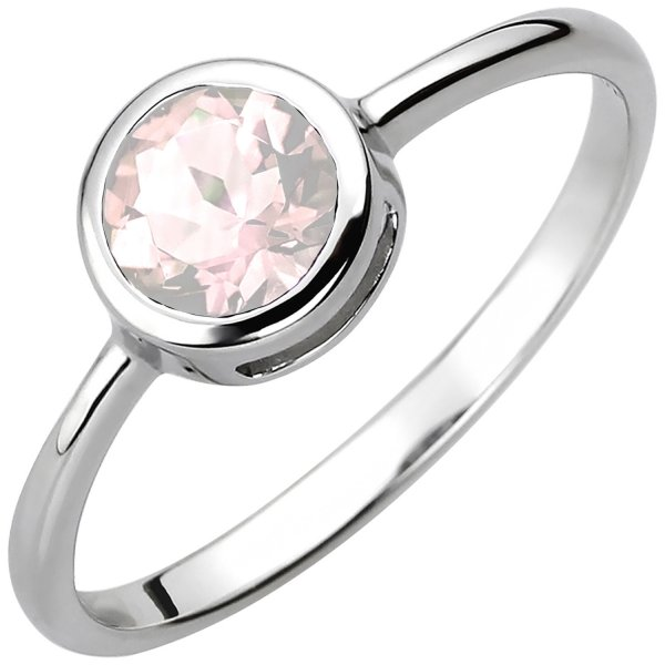 Damen Ring 925 Sterling Silber 1 Rosenquarz
